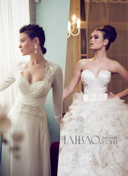 名贵面料的精致手工以色列设计师带来嫁衣之作