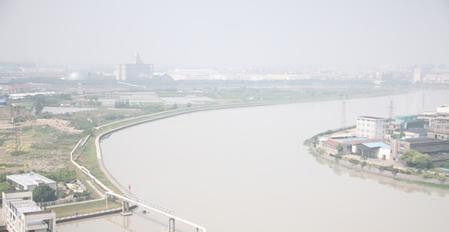 奉化江江景。