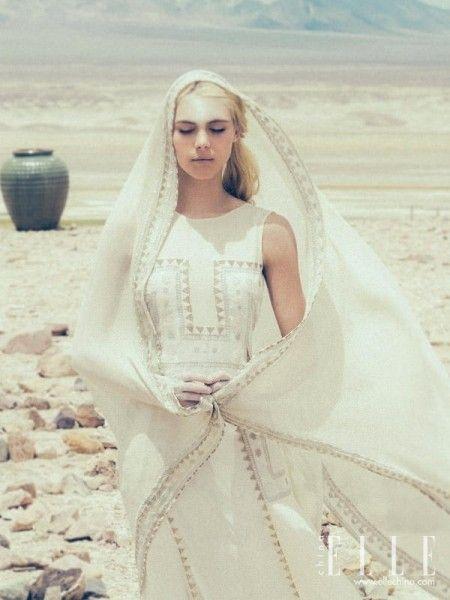 西域风情婚纱非传统个性新娘的全新感受(组图)