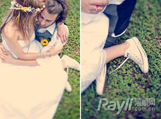 Sneakers来袭一双球鞋清爽应对夏日婚礼
