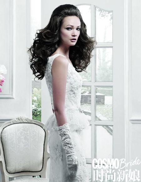 组图:浪漫蕾丝的复古风尚做一回美丽的新娘