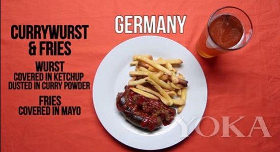 咖喱香肠配薯条(Currywurst & Fries)