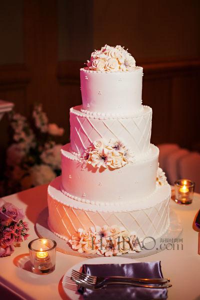 豪华考究的现代婚礼蛋糕演绎每一场浪漫仪式