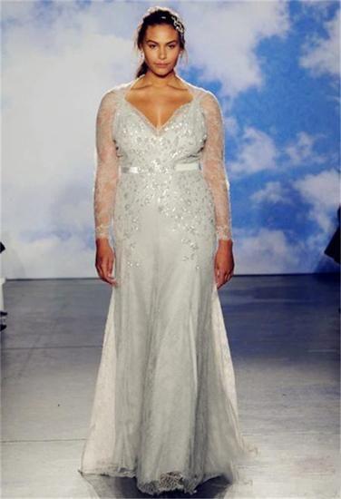 大码婚纱重磅来袭胖新娘们的福音(组图)
