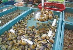 专家建议,贝壳类海鲜容易吸附重金属,食用前先用盐水净化