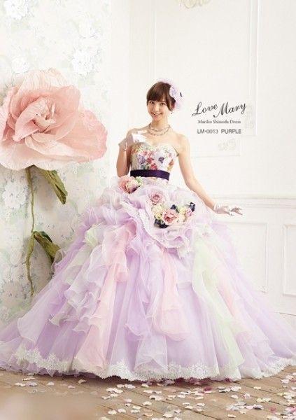筱田麻里子自创婚纱品牌 唯美梦幻惹小女生钟爱