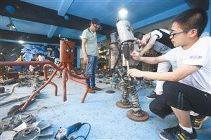 学生义卖机器人支持五水共治