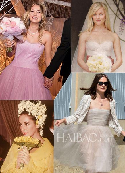 名媛奥利维亚的非传统婚纱引发新娘嫁衣新选择