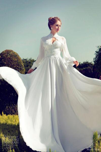 NuritHen婚纱系列化繁为简让婚纱如行云流水
