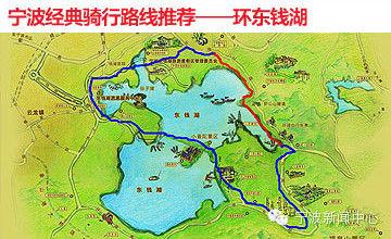 东钱湖环湖地图