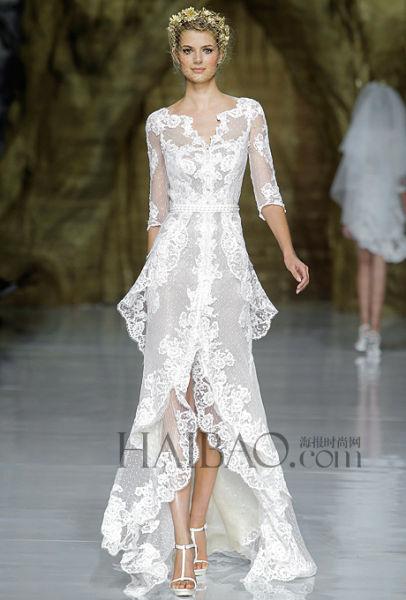 长袖婚纱为新娘们带来婚礼的优雅宫廷范嫁衣之选