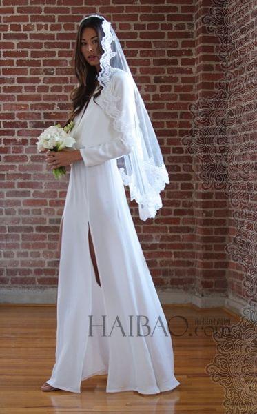波西米亚风格新娘浪漫蕾丝花边尽显女神般优雅