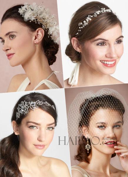 新娘发饰打造婚礼上的绝美佳人演绎发间风情