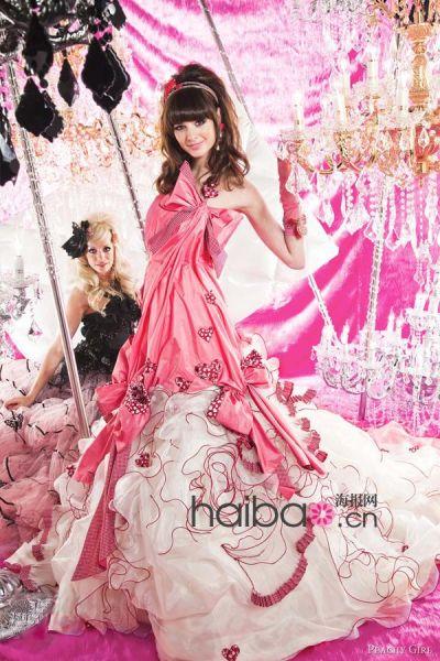 日系婚纱品牌粉嫩洛丽塔风格让婚礼美如童话