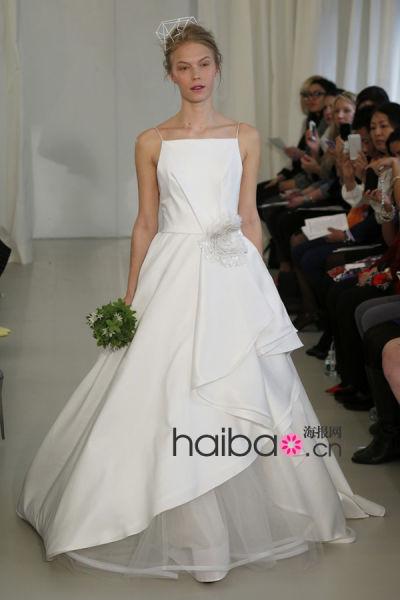 春夏纽约婚纱周流行趋势解读荷花般气质新娘