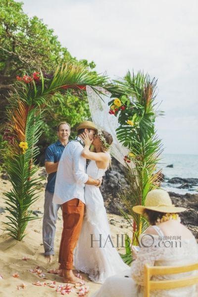 浪漫小岛上完成梦中的仪式祝福中度过完美假日