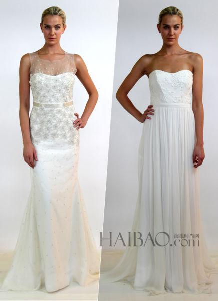 NicoleMiller的现代简约主义新娘礼服(组图)