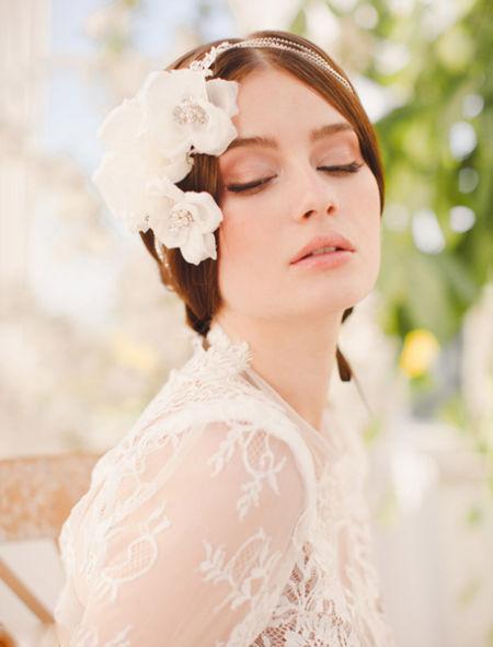 JannieBaltzer复古新娘发饰打造极致新娘