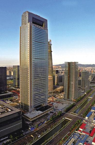 宁波第一高楼环球航运广场即将完工