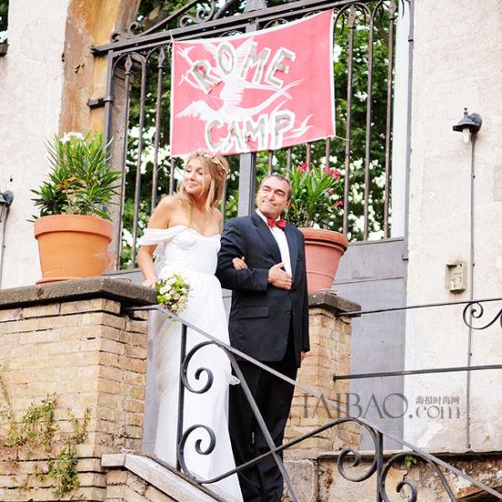 意大利罗马夏季舞蹈婚礼与美食中共享a舞蹈时美食城的众吃汇有什么图片
