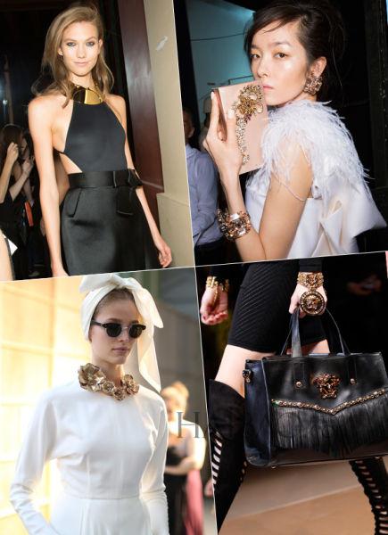 简约纯粹间的璀璨精灵点缀在黑白服饰间的珠宝