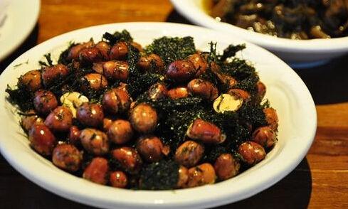 苔菜花生米:最好的下酒菜