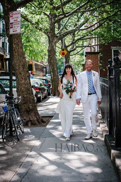 电影制作人在纽约布鲁克林婚礼举行婚礼(组图)
