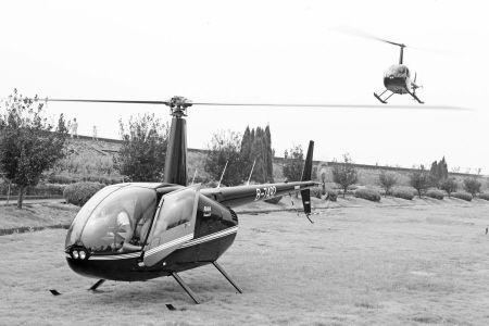 试飞由两架小型飞机完成,线路是从义乌到宁海,再从宁海到义乌。通讯员 李江林 摄