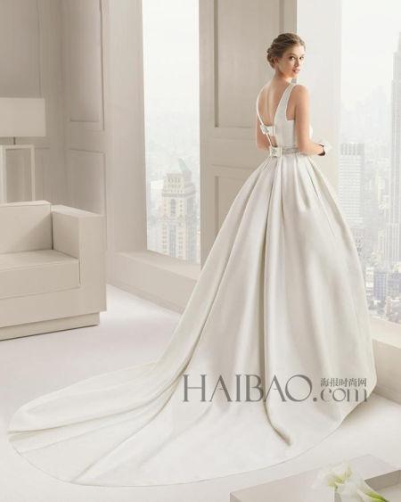 简约时装元素定义新娘嫁衣打造时尚新娘典范