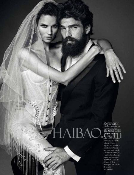 《Vogue》杂志西班牙版展示婚纱礼服大片