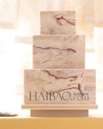 大理石花纹婚礼蛋糕天然元素的甜蜜应用
