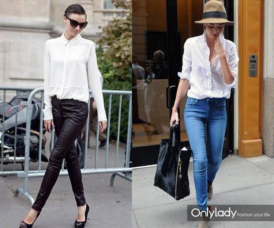 刘诗诗这么清新气质的女星街拍造型也少不了白色衬衫图片