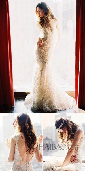 新娘发饰系列水晶打造奢华复古风格婚礼造型