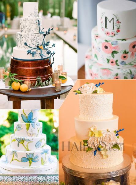 对婚礼新人的甜蜜祝福以绘画打造浪漫甜品