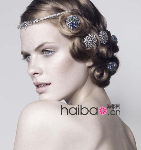 时尚现代新娘珠宝发饰展新娘的优雅之选