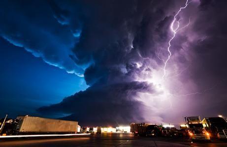 雷暴天气资料图。