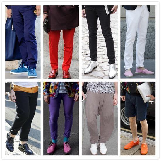 组图:时尚潮男帅气演绎型男彩虹色鞋款趣味搭配