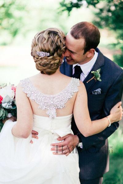 新娘婚纱背后的风景华丽细节中的古典与浪漫