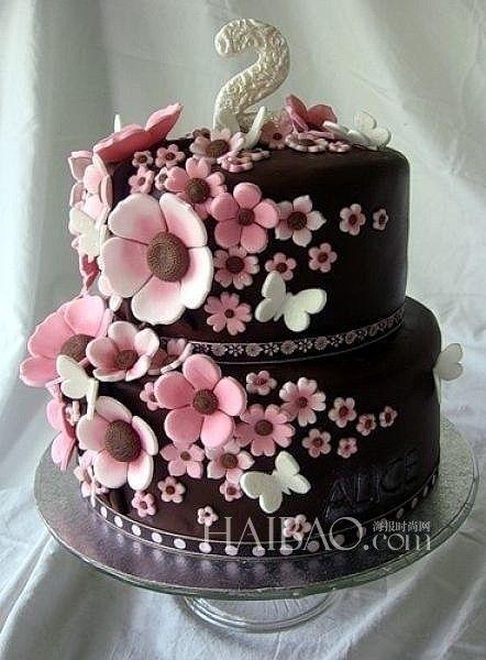 繁花似锦的浪漫不同风格的婚礼蛋糕带给你祝福