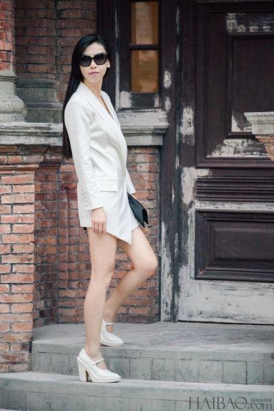 初秋时节潮人完美演绎超吸睛帅气白西服穿搭