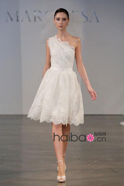 精巧短款婚纱新时尚主义新娘的选择(组图)