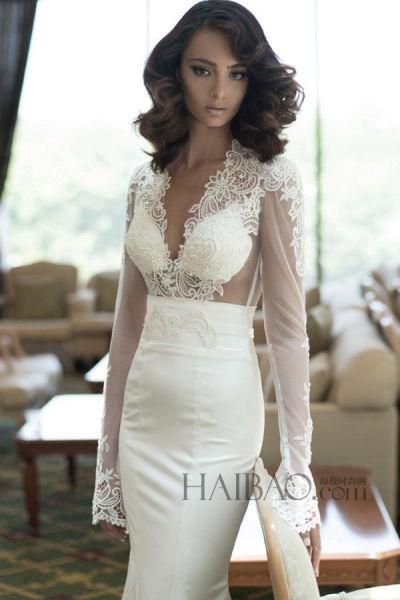 春夏婚纱青春气息十足的优雅性感新娘
