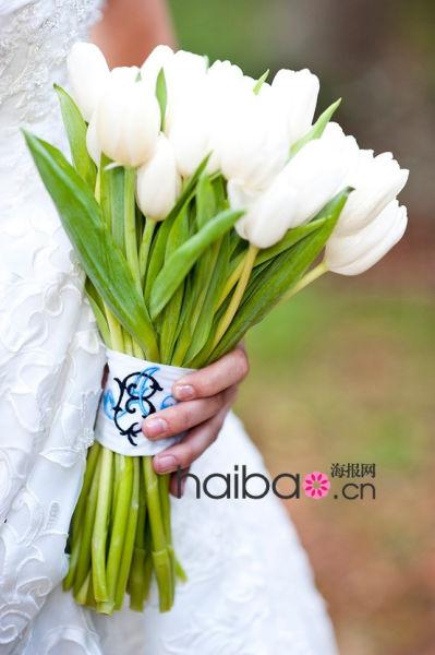 新娘捧花推荐郁金香衬托你的脱俗之美