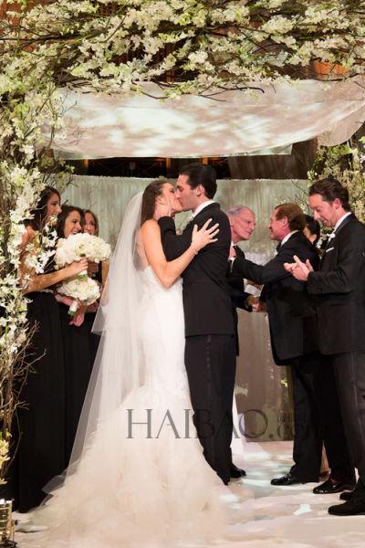 黑白双色主题仪式中感受温馨新娘幸福出嫁