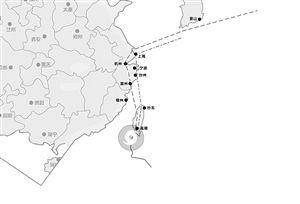 """据浙江省水利信息管理中心数据显示,""""凤凰""""在明天极有可能登陆浙江"""