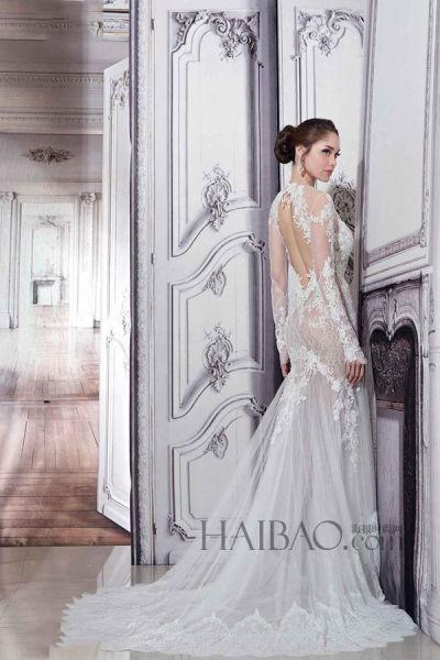 手工定制线条嫁衣 奢华材质中的古典主义韵味