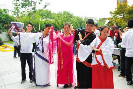 宁波二中社团招新亮绝活
