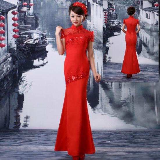 性感新娘的传统服饰教你挑选知性旗袍礼服