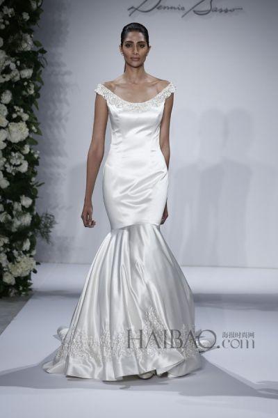 该系列的设计凸显了古典主义的传统西方婚纱:鱼尾,公主裙与a字裙的