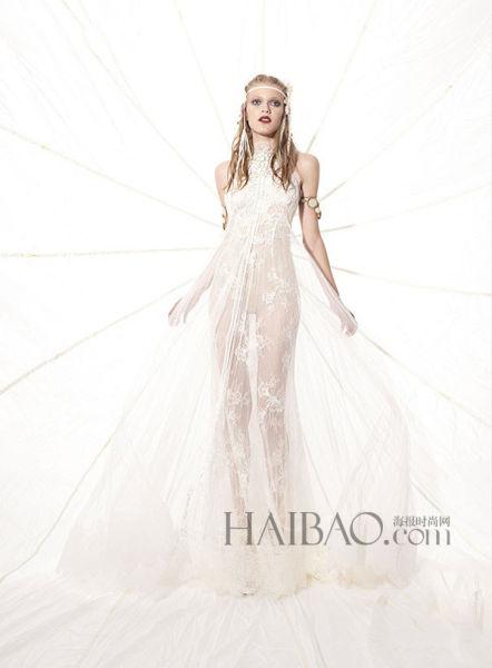 打造部落风情嫁衣灵动气质彰显新娘优雅魅力
